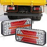 Mesllin LED Fanale posteriore Bar 12V 24V Segnale di svolta Luce retromarcia per rimorchio camper camper Pickup per barca, 2 pezzi