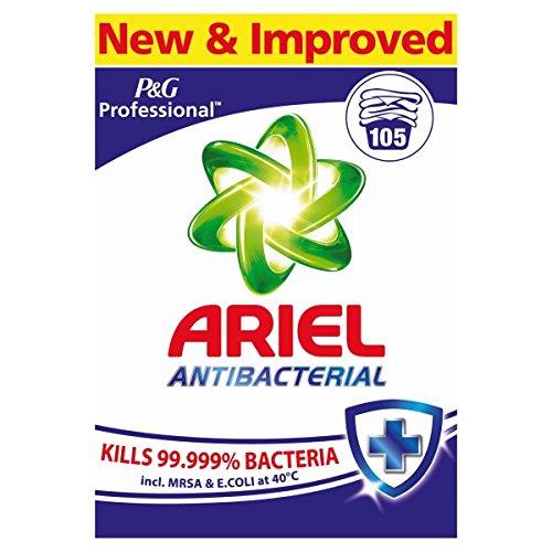 Ariel - Pack de 105 lavados en polvo antibacteriano profesional 105 lavados