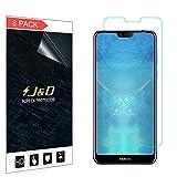 J&D Compatible para 8 Paquetes Nokia 7.1 Protector de Pantalla, [NO Cobertura Completa] Prima Escudo de Película Transparente HD Protector de Pantalla para Nokia 7.1
