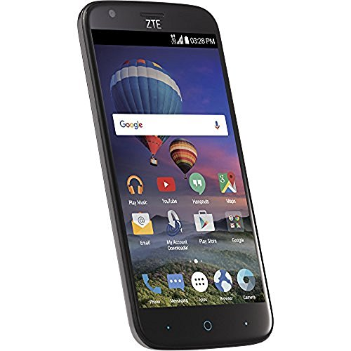 ZTE ZMax Champ 4G LTE with 8GB Memory Cell Phone Total Wireless - Black