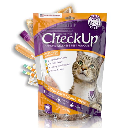 KIT4CAT CheckUp Kit at Home Wellness Test for Cats, Hydrophobic Litter for...