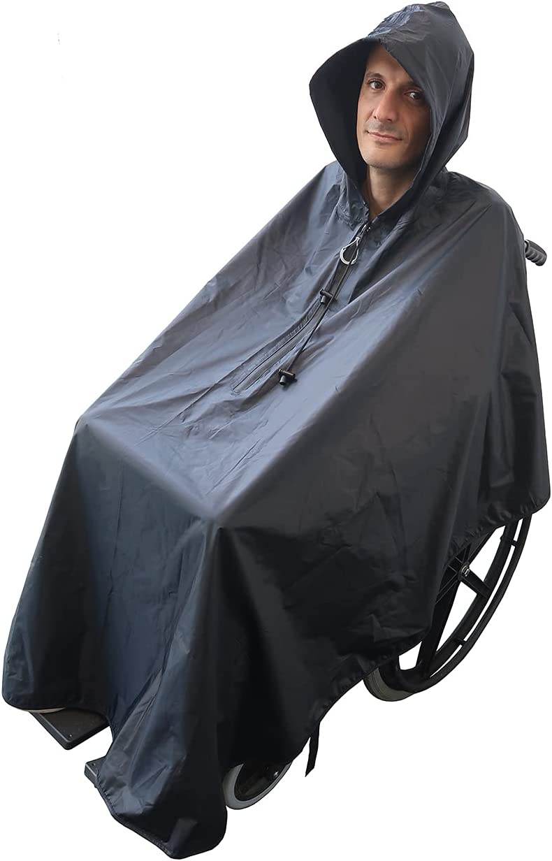 ActionCare - Poncho impermeable para Silla de Ruedas - Estándar para adultos - Capa de lluvia para silla de ruedas