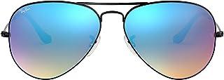 نظارات شمسية بتصميم افياتو كلاسيكي وعدسات عاكسة للفلاش من راي بان - RB3025