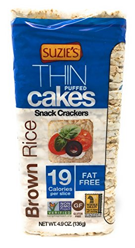 Suzie's Whole Grain Brown Rice Thin Cakes UNSALTED,...