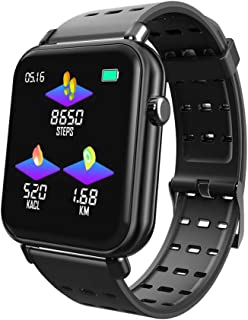 $25 » RONSHIN Y6Pro Smart Bracelet 1.3-inch Color Screen Real-time Heart Rate Blood Pressure Sleep Monitoring IP67 Waterproof Sports Watch black silicone strap Electronic Accessories