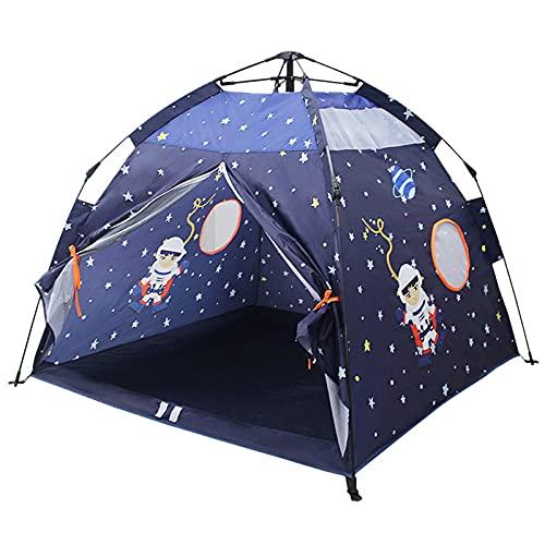 DFLKP Play Tent for Kids Space World Tent, Universe Tent Casa de Juegos Interior para niño Regalo imaginativo para niños pequeños,Verde