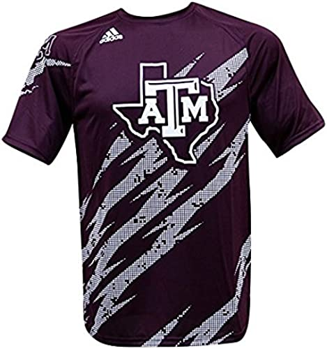 Adidas Texas A&M Aggies Climalite Aftershock Perforhommece T-Shirt Marron