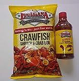 Louisiana Crawfish Shrimp and Crab Boil Bundle, one 4.5 Pound of powder Boil, and One 16 oz Bottle of Liquid Boil