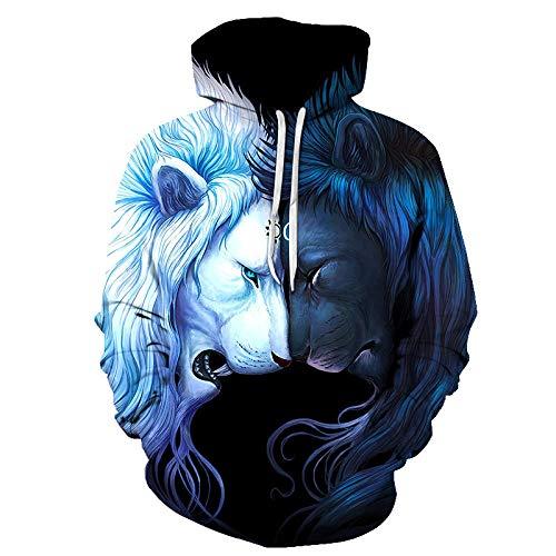 CHWEI Knitted Hat Kapuzenpullover Für Tier Unisex Langarm 3D Pullover Hoodies Hoody Sweatshirt Trainingsanzüge Kapuzen Mit Outfits Atmungsaktiv Komfortabel