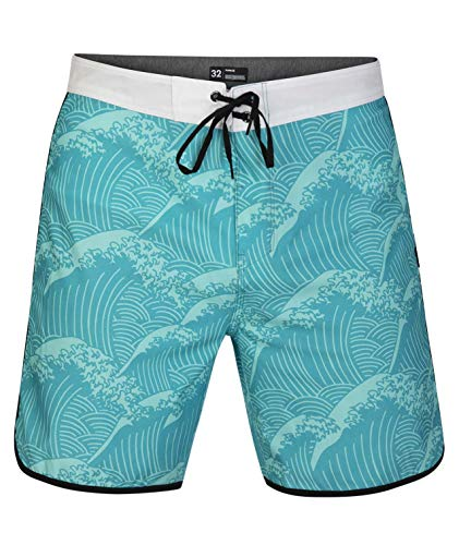 Hurley M Phantom Waves 18' Bañador, Hombre, Aurora Green, 33