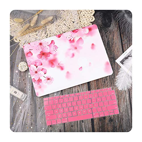 New Marble Laptop Case Cover for MacBook Air 13 Mac Book 2019 A1932 Retina Pro 13 15' Touch Bar A2159 A251 A2289 + Keyboard Cover-Pink-A2159 A1706 A1989