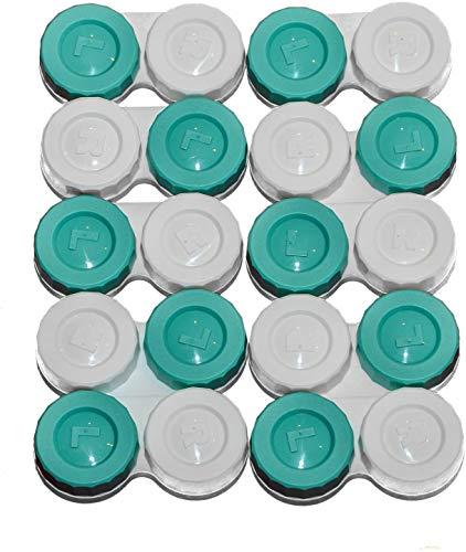Sports Vision's Kontaktlinsenbehälter - Schraubdeckel Flaches Design 10 Stück - Hergestellt in UK