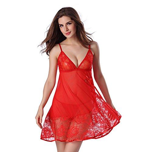 Vrouwen Lingerie Nachtkleding Vrouwen Kant Chemise Sling Jurk Thongs Halter Nachtkleding Mesh Outfits