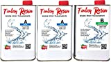 Fantasy Craft 2.25 kg - Resina epossidica Ultra Trasparente - bicomponente, Effetto Acqua, per creazione di Gioielli in Resina, Resina Trasparente per creazioni stampi