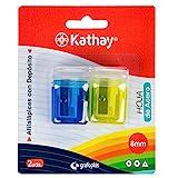 Kathay 86614599. Pack de 2 Sacapuntas con Depósito, Hoja de Acero, 8mm