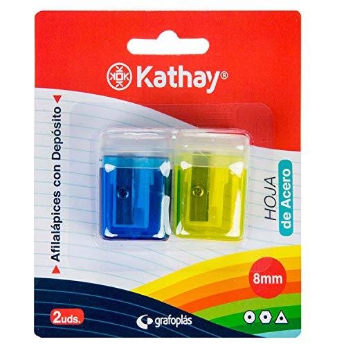 Kathay 86614599 Anspitzer mit Behälter, Klinge aus Stahl, 8 mm