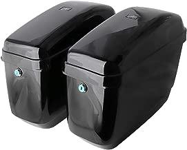 Motorcycle Hard Saddlebags Saddle Bags for Honda Shadow Kawasaki Vulcan Yamaha Sportster with Mounting Kits