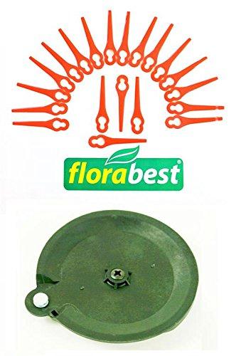 20 Messer & 1 Schneidscheibe für Ihren Florabest LIDL Akku Rasentrimmer FAT 18 B3 IAN 273039