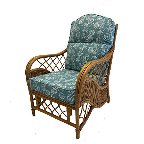 Hartfords Relpacement Cushions (Piped) for Conservatory Cane Furniture (CUSHIONS ONLY) (Caracus, 1 x Chair)