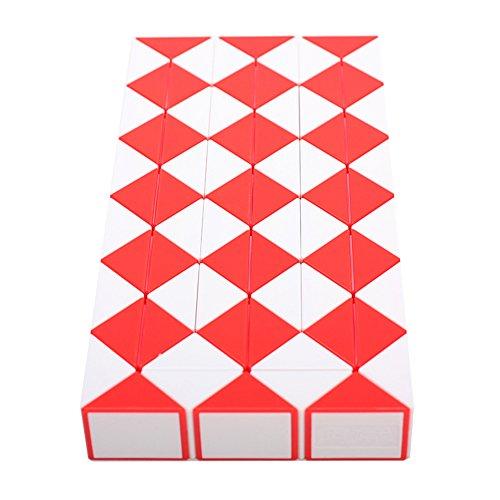 MZStech Magia Serpiente Twist Puzzle Twisty Toy Colección 72 Cuñas Magic Ruler (Rojo)