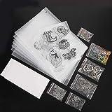 Jazar Papel de película retráctil, Kit de láminas de plástico termoencogible, Color de Bricolaje Multiusos para niños y Estudiantes