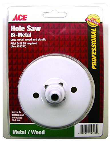 ace drills Ace 4 in. Dia. Bi-Metal Variable Pitch Hole Saw (24330A)