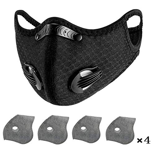 Face Shield, Facial Protection Filtration, Washable,Reusable,Dust-Proof Adjustable Headgear Full Protection(with 4 Pcs Filters)