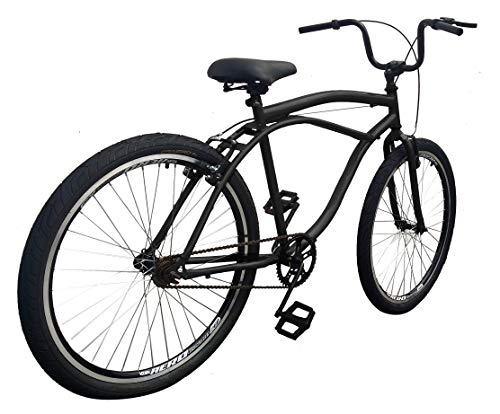 Bicicleta Caiçara Rocket Aço ARBL **INQUEBRÁVEL** PRETO (quadro reforçado,raios grossos e aros aero)