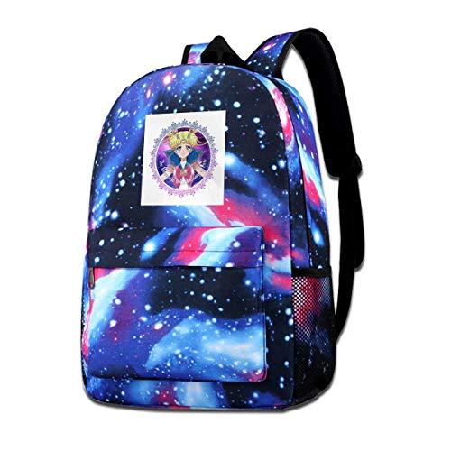 Backpack Sailor Moon Crystal Moonlight Fashion Print Casual Cartoon Anime Cozy Star Sky Backpack Shoulder Bag Lightweight Daypack