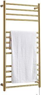 FREIHE Toallero calefactado, radiador de Toalla Antracita, toallero Dorado de baño de Acero Inoxidable 304, Resistente al Agua y al óxido 1100 * 520 * 125 mm