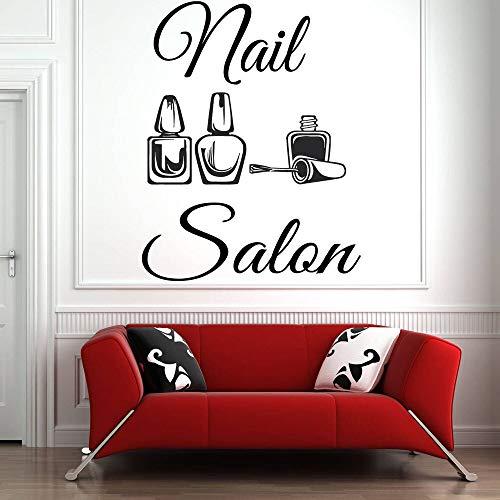 Salón de belleza Pegatinas de pared Salón de uñas Esmalte de uñas Etiqueta de la pared Patrón Barbería Arte