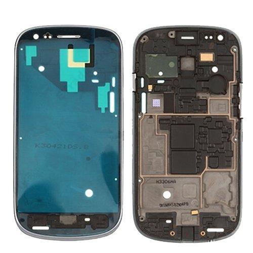 BEIJING  SCREENCOVER+ / Carcasa Delantera Marco LCD Placa de Bisel para Galaxy Siii Mini / i8190, Reemplazo LCD Placa Placa ATRÁS BIELEL (Color : Silver)