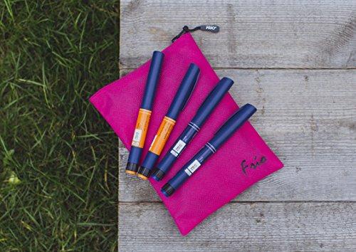 FRIO VÍVA in Passion Pink Kühltasche für Insulin - KEIN Eispack oder Batterien nötig, für bis zu 4 Insulinpens in Standardgröße ODER eine Kombinationen von Pens, Ampullen oder Patronen ODER 3 Epi Pens