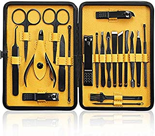 Manicura y Pedicura - BONKEEY 20 en 1 Manicura Set Acero Inoxidable Pedicura Grooming Kit Manicure Pedicure Set Kit para M...