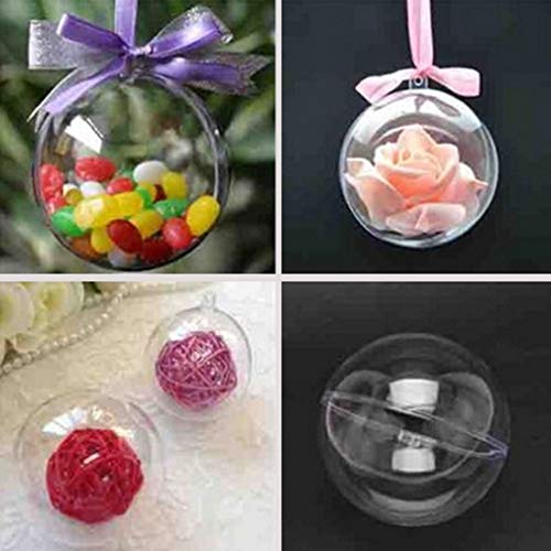 Christmas Balls to Decorate Transparent Fillable Ball Ornament DIY Home Decoration 10PCS 100mm High Quality