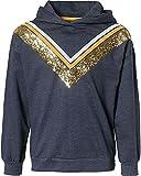 Lemon Beret Sweatshirt Camisa de Entrenamiento, Navy Blazer, 152 Muchachas