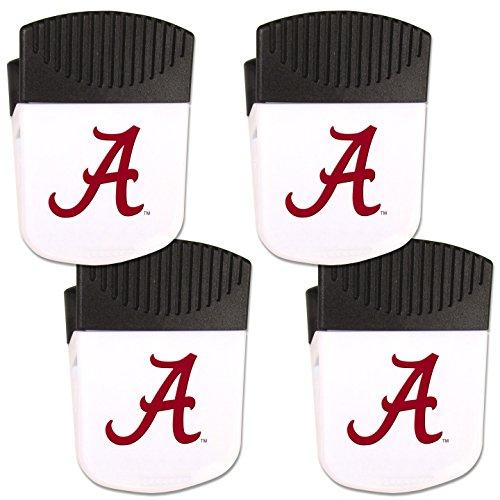 NCAA Siskiyou Sports Fan Shop Alabama Crimson Tide Chip Clip Magnet with Bottle Opener 2 pack Team Color