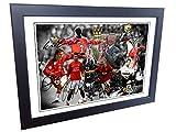 7x 5firmado 'la Alex Ferguson años' celebración–cantona-ronaldo-beckham-giggs-rooney-scholes firmada Manchester United Fotos Fotografía imagen regalo...