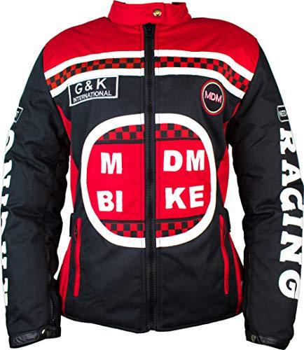 MDM Damen Racing Jacke mit Protektoren in Rot (L)