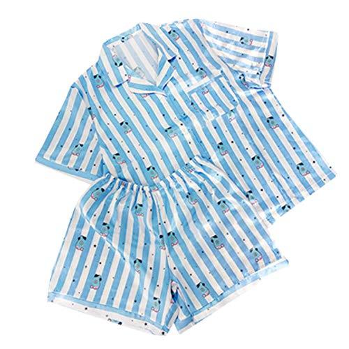MIFIN Stampato Pigiama Due Pezzi Set Summer Pyjama Set (Mang, S)