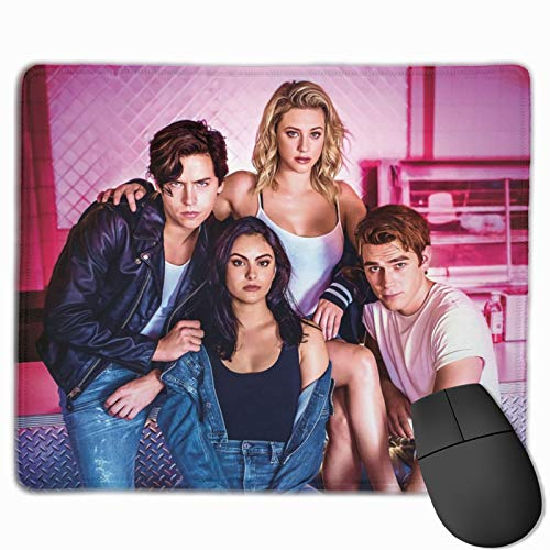 Riverdale 'Stay Weird' Mouse Pad with Gel Wrist Rest Support | Non-Slip Rubber Base Wrist Rest Pad for Home Office Easy Typing 11.8 X 9.8 Inch