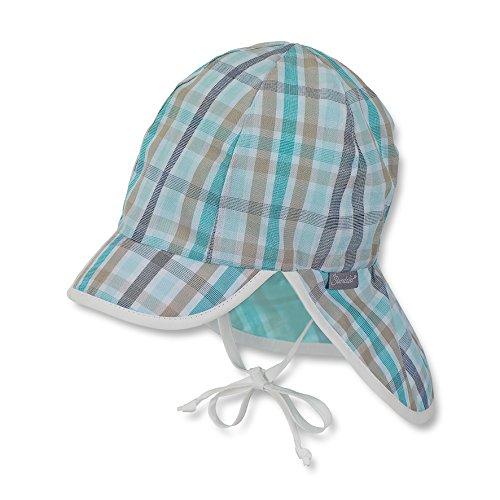 Sterntaler Unisex Schirmmütze mit Nackenschutz und Bindebändern, Alter: 9-12 Monate, Größe: 47, Bunt (Eukalyptus)
