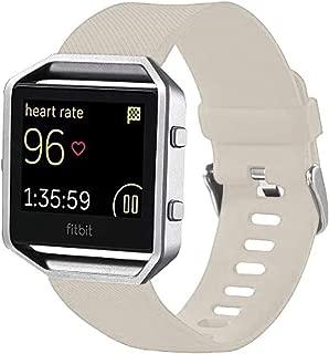 Consumer Electronics for Fitbit Blaze Watch Oblique Texture Silicone Watchband, Large Size, Length: 17-20cm(Black) (Color : Beige)