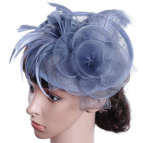 Ouuager-Home Haar Fascinator Hoofdband Haar Clips Elegante Dames Western-stijl Banket Hoed Tiara Hoofdband