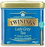 Twinings Tè Sfusi - Lady Grey Tea - Tè Nero Proveniente dalla Cina, Aromatizzato con Arancia, Limone e Fiordaliso - Combinato alla Perfezione con Aromi e Scorze di Agrumi - Latta 100 g