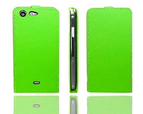 caseroxx Flip Cover für Wiko Stairway, Tasche (Flip Cover in grün)