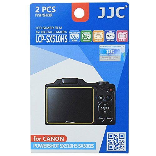 JJC lcp-sx510hs Protector de Pantalla película para Canon PowerShot SX510HS/SX500IS