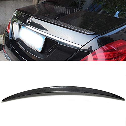 Carbon Fiber Rear Trunk Spoiler Wing Lip Fit for 2014-2018 Mercedes W222 S-Class S400 S500 S550 S63 S65 AMG Sedan 4DR