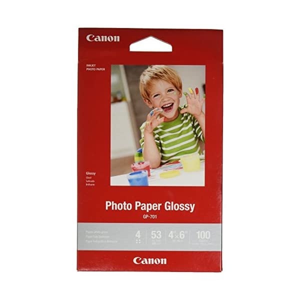 CanonInk Glossy Photo Paper 4″x 6″ 100 Sheets (1433C001)