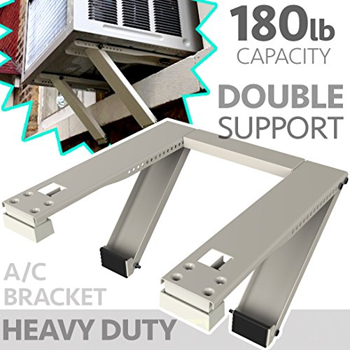 ALPINE HARDWARE Universal Window Air Conditioner Bracket - Heavy-Duty Window AC Support - Support...